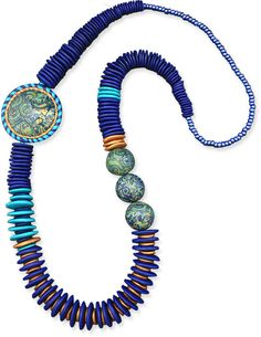 Polymer Clay Necklace. siemens by cynthia tinapple, via Flickr. Beautiful colors.