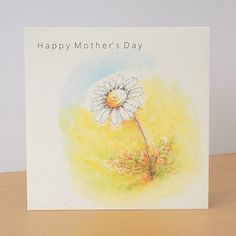 Mother's Day Daisy Eco Friendly Card £2.95