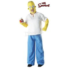 Disfraz Homer Simpson Deluxe para hombre - Dresoop.es