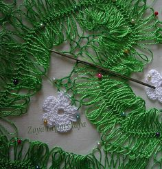 hairpin lace crochet step 3