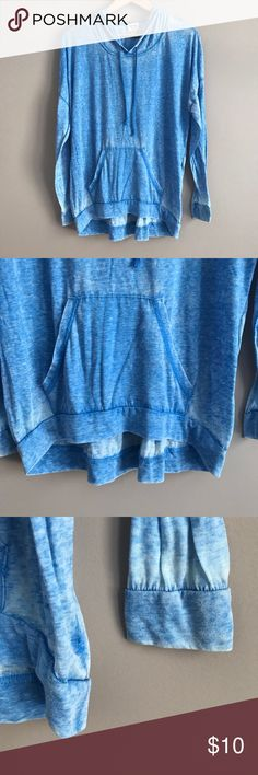 Light-Weight Blue Hoodie Super light Mossimo hoodie in great condition! Very long in the back. Mossimo Supply Co Tops
