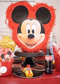 Mickey Mouse Birthday Party via Kara's Party Ideas | KarasPartyIdeas.com #mickey #mouse #cake #favor #decorations #supplies #birthday #party...