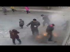 LiveLeak - Explosion caused by kid throwing firecracker in manhole