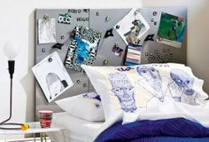 mommo design: IKEA HACKS - Spontan magnetic boards bedhead