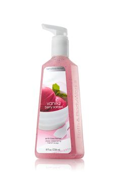 Vanilla Berry Sorbet Deep Cleansing Hand Soap - Anti-Bacterial - Bath & Body Works