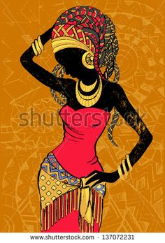 Find Hand Drawn Illustration Beautiful Black Womanafrican stock images in HD and millions of other royalty-free stock photos, illustrations and vectors in the Shutterstock collection. Thousands of new, high-quality pictures added every day. Black Girl Art, Black Women Art, Black Art, Art Mural Africain, African Wall Art, African Prints, African Fabric, Afrique Art, African Art Paintings