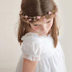 Vestido de comunión de lino en blanco de BelandSoph.com - Especial Primera Comunion CharHadas.com