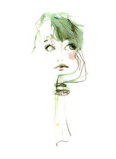 Fashion illustration by pam