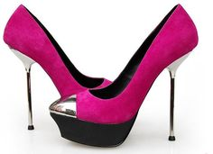 Gianmarco Lorenzi ~ passion pink withchrome stilettos ~ oh yes, please! Pink High Heels, Hot High Heels, Womens High Heels, Sexy Heels, Beautiful High Heels, Hello Beautiful, Latest Shoe Trends, Hot Shoes, Women's Shoes