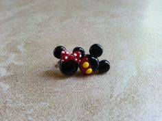 Mickey Mouse Minnie Mouse Inspired Polymer Earrings