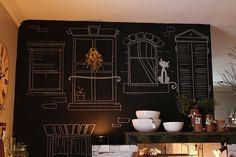 chalkboard wall in kitchen