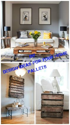 DIY. Design ideas for your home with pallets.