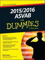 2015/2016 ASVAB for dummies / by Rod Powers.