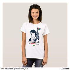 free palestine T-Shirt | Zazzle.com Palestine Art, T Shirts Uk, Middle East, Wardrobe Staples, Fitness Models, Female, Casual, Sleeves, Fabric