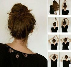 Love learning new ways to make a messy bun look beautiful!