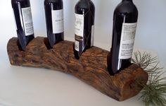 Wooden Wine Bottle Holder by AspenBottleHolders on Etsy Wooden Wine Bottle Holder, Wood Wine Racks, Wine And Liquor, Wine And Beer, Bbq Sale, Wine Storage Cabinets, Wine Cellar Design, Wine Carrier, Wine Craft