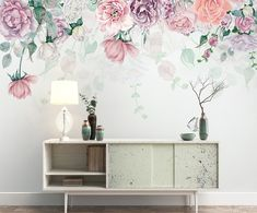 Decorating your room with peony-themed wallpaper creates a stunning effect. Thick Wallpaper, Cool Wallpaper, Dandelion Wallpaper, Flower Wallpaper, Wall Murals Bedroom, Peony Flower, Flowers, Decorate Your Room, Designer Wallpaper