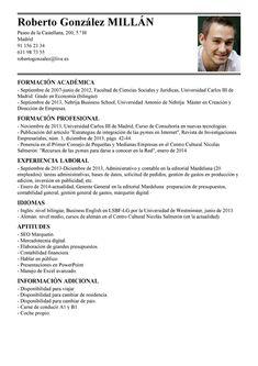Modelo de Currículum Vítae Administrador General | Administrador General CV…