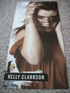 """Kelly Clarkson / Breakaway / 2004 RCA Promo Poster / 12"""" X 24"""" / Double-Sided / RARE !"""