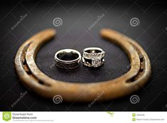 Cowboy Wedding Rings Stock Photo Image 18922330