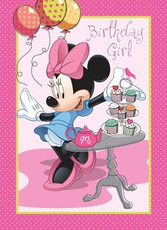 Kaarten - verjaardag kids meisje - disney km Disney Birthday Wishes, 2 Year Old Birthday Party Girl, Happy Birthday Notes, Birthday Card With Name, Happy Birthday Wishes Quotes, Happy Birthday Pictures, Happy Birthday Greeting Card, Mickey Mouse Birthday, Funny Birthday Cards