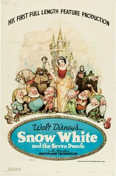 """Snow White and the Seven Dwarfs (RKO, 1937). One Sheet (27"""" X 41"""")Style B."""