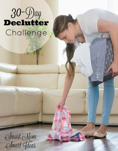 Take the 30-Day Declutter challenge and start decluttering your home today. 30 days of 15 minutes tasks to help you get your home decluttered includes a FREE 30-day challenge printable