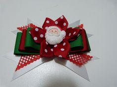 como hacer un moño navidad para el cabello. christmas hair accessories