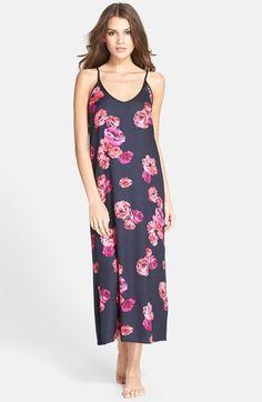 Women's Midnight by Carole Hochman Satin & Jersey Nightgown