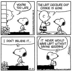 Ah...Snoopy, I know the feeling!