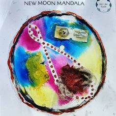 Analemma New Moon mandala #themoonismycalendar #newmooncircle #newmoonmandala #moon