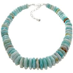 288-072 MINE FINDS BY JAY KING Jay King Tropical Amazonite Graduated Bead Necklace $59.43