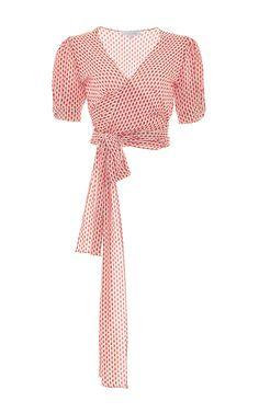 Polka Dot Noly Top by ALEXIS Now Available on Moda Operandi