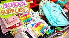Back to School Supplies Haul 2017! Alisha Marie