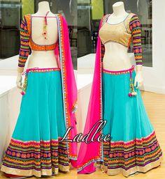 Lehenga Crop Top, Half Saree Lehenga, Indian Lehenga, Sarees, Choli Designs, Lehenga Designs, Blouse Designs, Indian Dresses, Indian Outfits