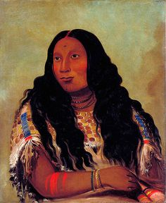 Sioux Native American Indian Tattoos  Artist: George Catlin