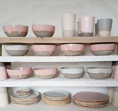 Du rose qui dégouline ! #vaisselle #ceramique #bellevaisselle