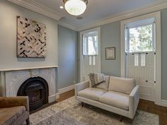 Transitional Living-rooms from Ben Herzog on HGTV    Colors and furniture size good