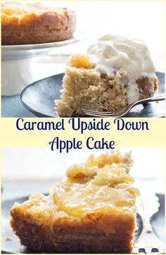 An Easy Caramel Upside Down Apple Cake, a fast and delicious Fall Dessert recipe, brown sugar and cinnamon make this the ultimate Apple Cake. via @https://it.pinterest.com/Italianinkitchn/