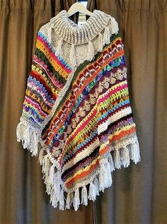 I made this poncho for a good friend..and now have order requests…I did not expect that. Darlene LiveLovelaugh