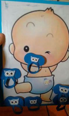juego poner el chupete al bebe