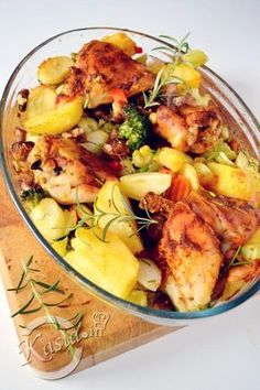 Polish Recipes, Potato Salad, Casserole, Food And Drink, Potatoes, Meals, Chicken, Ethnic Recipes, Fit