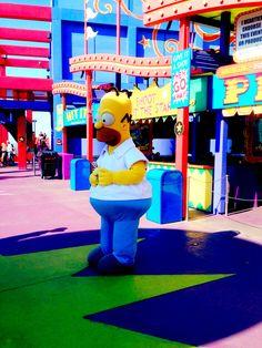 Homer Simpson, Universal Studios, Los Angeles