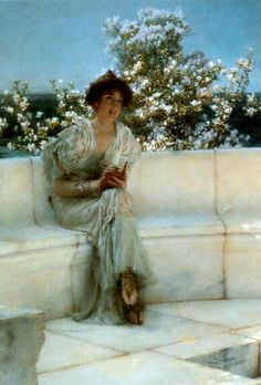 Alma Tadema.  I have this print in my place.  Love it.