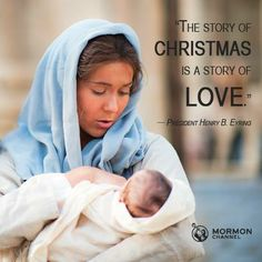 """""""The appearance of the long-promised Messiah brought light to the darkened world."""" —President Henry B Eyring #Christmas #LDS #Mormon"""