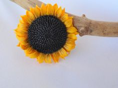 Sunflower brooch pendant sunflower country style polymer clay flower jewelry flower brooch gift for her gift birthday wedding Jewelry