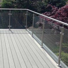 Glass railing with solid aluminum base – Yurihomes Glass Balustrade, Glass Railing, Balcony Railing, Stainless Steel Handrail, Stainless Steel 304, Glass And Aluminium, Steel Columns, Laminated Glass, Curved Staircase