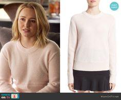 Juliette's pink ribbed sweater on Nashville.  Outfit Details: https://wornontv.net/56808/ #Nashville