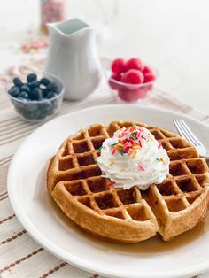 Protein Belgium Waffle For One Ripped Recipes, Skinny Recipes, Belgium Waffles, Protein Waffles, Chocolate Waffles, Kodiak Cakes, Unsweetened Coconut Milk, Waffle Mix, Sugar Free Syrup