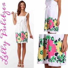 Lilly Pulitzer Dresses - NWT Lilly Pulitzer White Floral Print Dress